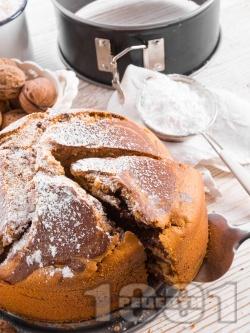 Пухкав кекс с какао, канела и орехи (с прясно мляко и бакпулвер) - снимка на рецептата